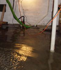 Several feet of floodwaters in a Dunellon basement